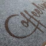 Ворсовые грязезащитные ковры с вклеенным логотипом из материала SuperNop