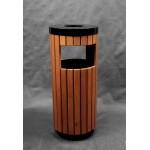 Урна деревянная на металлическом основании Wood объем 40 л