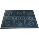 Входной резиновый шипованный коврик Welcome