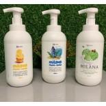 MILANA GRASS мыло-пена в дозаторе-бутылочке 500 мл и канистре 5 л