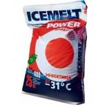 ICEMELT POWER | MIX противогололедный материал на основе хлористого кальция 25 кг
