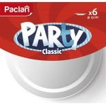 Тарелка пластиковая одноразовая круглая Paclan Party