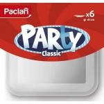Тарелка пластиковая одноразовая квадратная Paclan Party