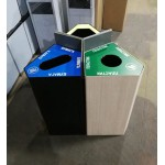 Урна КАЙТ для раздельного сбора мусора в торговом центре