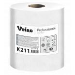 Однослойные бумажные полотенца в рулоне Veiro Professional Comfort